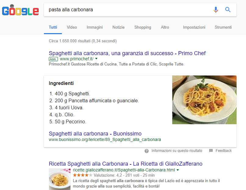 serp di google